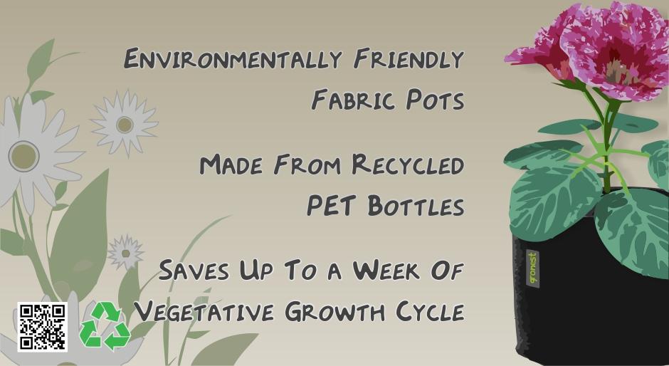Environmentally Friendly Fabric Pots